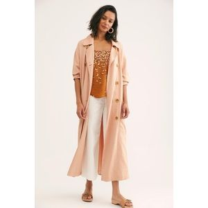 Free People light pink double button trench coat